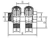 Razdelnik sa ugaonim ventilima