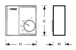 Sobni termostat elektronski